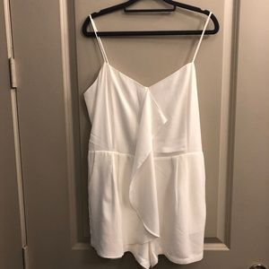 Off-White Ruffle Front Romper